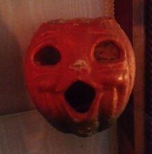 Paper Mache Vintage Halloween Pumpkin Lantern