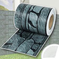 Rouleau 70m x 19cm PVC brise-vue pare-vent pour clôture terrasse jardin ardoise