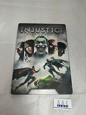 Injustice Gods Among Us Steelbook case + game Xbox 360