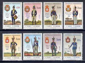 Cape Verde sc#330-337 (1965) Military Uniforms full set MNH**