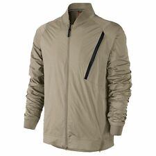 Nike Tech Hypermesh Varsity Jacke sz 3XL xxx-large khaki hellbraun schwarz Luft