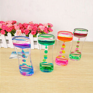 Liquid Floating Timer Desktop-Motion Visual Clock Timer Oil Drop Toys