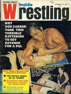 JOHN TOLOS/DON CARSON Inside Wrestling Magazine December 1971 BETTY NICCOLI