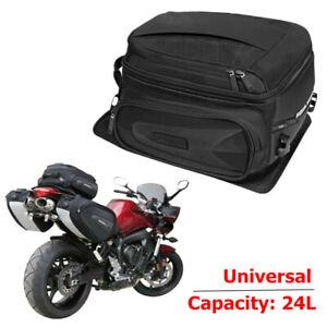 Motorcycle Bikes Seat Bag Waterproof Travel Luggage Shoes Helmet Tail Case Black
