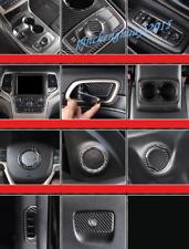 Real Carbon Fiber Car Interior Kit Cover Trim For Jeep Grand Cherokee 14-15