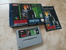 Super Nintendo SNES Syndicate Game Boxed PAL