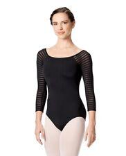 justaucorps de danse , body LULLI dancewear Gillian LUF529, noir, XS,S,M ou L