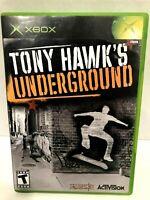 Tony Hawk's Underground (Microsoft Xbox, 2003) Video Game Complete!