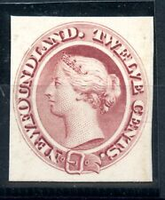 Weeda Newfoundland 28Pi VF plate proof on thick card, 12c red brown CV $100