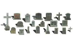 Woodland Scenics ~ HO Scale ~ Graveyard Tombstones ~ A1856