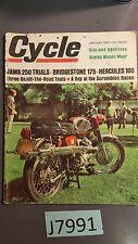 Cycle Magazine January 1967 Jawa Bridgestone Hercules GC 131F 100 175