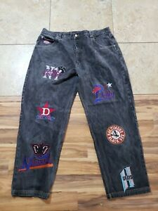Negro League Baseball Museum Embroidered Patches Denim Jeans Pants 44 meas 42x34