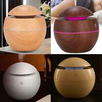 Intelligent Wood Grain Humidifier Ultrasonic Air Aroma Essential Oil Diffuser
