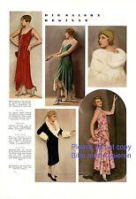 Mode Saison 1929 XL Seite Fotoabb. 20er Jahre Berehinak Maybaum Maria Ehrenstein