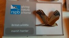 RSPB pin badge - marsh harrier  - giving nature a home