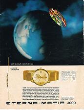 PUBLICITE ADVERTISING 084  1964  ETERNA-MATIC 3000    montre  DATO