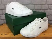 LACOSTE LADIES UK 5 EU 38 CARNABY EVO WHITE GREY TRAINERS RRP £65