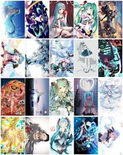 20 cards VACALOID Hatsune Miku Card Paster Card Stickers A
