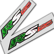 Aprilia RS 125 Motorcycle graphics stickers decals x 2 Italian flag colours