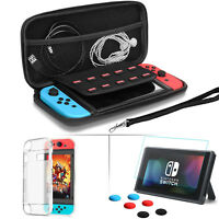 Shockproof Protective Travel Bag TPU Case Screen Protector for Nintendo Switch