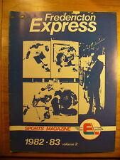 AHL Fredericton Express '82-83 Hockey Season Official Program Yearbook Vintage