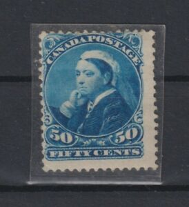 Canada 50cts blue widowhead rich color hinged SG #116 cat £275 (Q175)
