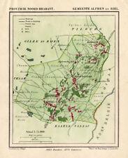 ANTIQUE MAP-NETHERLANDS-ALPHEN-NOORD BRABANT-KUYPER-1865