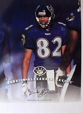 DERRICK ALEXANDER Ravens Chiefs Michigan 1997 NFL Leaf Autograph 8x10 Card 16G