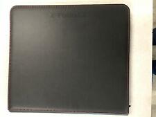 Used Black Z-Folio LX Card Binder with Red or Black Stitching