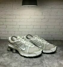 Nike Shox 331152-111 Women's White Silver Leather Athletic Running Shoes Sz 8