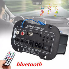 30W Bluetooth Car Subwoofer Hi-Fi Bass Amplifier Board MP3 Audio TF USB 12V/24V