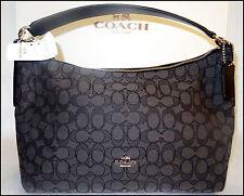 Coach Signature East West Celeste Hobo Bag Handbag NWT NEW BLACK #58284 $325