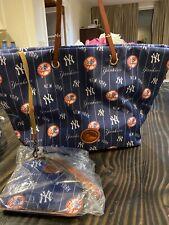 NEW Dooney and Bourke NY Yankee's Addison Tote Bag handbag & Wristlet Set $348