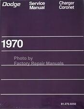 1970 Dodge Charger Coronet Factory Service Manual Reprint Shop Repair Book