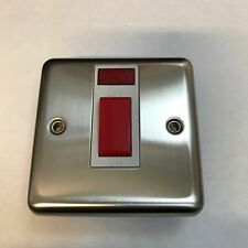VOLEX STAINLESS STEEL 45A NEON SWITCH DOUBLE POLE  PART NO. DEC362