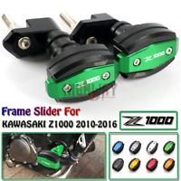 CNC Frame Slider Crash Caps Pads Engine Protector for KAWASAKI Z1000 2010-2016