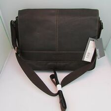 Kenneth Cole Briefcase Leather Risky Business Messenger Bag Brown 524541