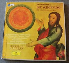 Joseph Haydn - Die schopfung / The creation - Karajan , Box 2 LP - 33 tours