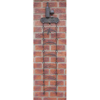 Cast Iron Wall Mounted Wine Rack Corkscrew 6 Bottle Holder French Vintage Metal