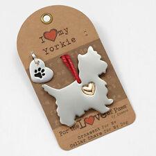 Yorkshire Terrier Ornament & Dog Charm Set