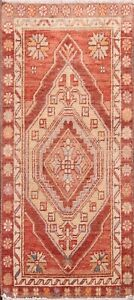 Geometric Traditional Authentic Oushak Turkish Area Rug Hand-knotted Carpet 2x3