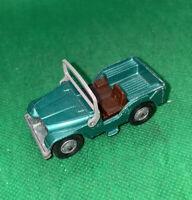 Vintage Husky Models Die-Cast Green Willys Jeep Nice!