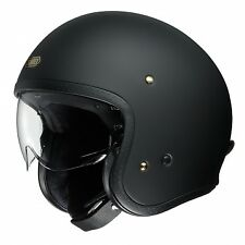 Shoei J-O Matte Black Motorcycle Helmet Scooter XLARGE