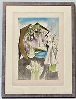 PABLO PICASSO Vintage Original Rare Lithograph Pochoir Weeping Woman Signed 1937