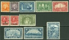EDW1949SELL : CANADA 1926-34 Nice collection of Diff VF MOG sgls & sets Cat $177