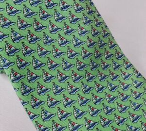Vineyard Vines Sailing Tie Silk Mint Green Marthas Vineyard Sailboats Regatta