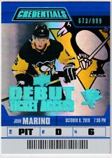 19/20 UD CREDENTIALS JOHN MARINO DEBUT RC SP ROOKIE /999 #68