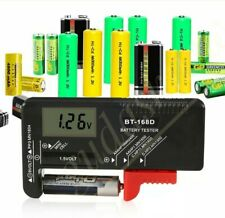Digital Battery Capacity Tester LCD Fits 9v 1.5v AAA AA Cell C D Batteries