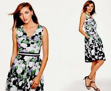 NWT TALBOTS WOMENS COTTON FLORAL PRINT OPRAH COLLECTION SHIFT DRESS SIZE 6 ($189