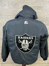 Vintage Raiders Jacket Starter Puffer Embroidered Logo 90s NWA LA Oakland Size S